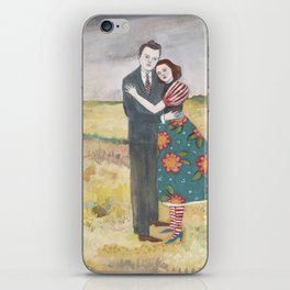 nigel and lily embrace as the storm passes by iPhone Skin