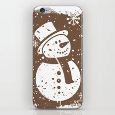 Friendly Snowman iPhone & iPod Skin