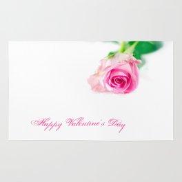 Pink rose for Valentine's day Rug