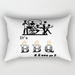Barbecue Party Time Rectangular Pillow