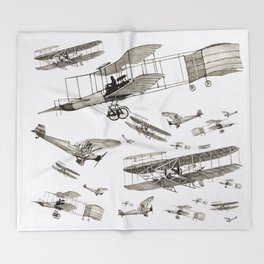 airplanes1 Throw Blanket