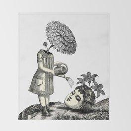 Gotta water this head Throw Blanket