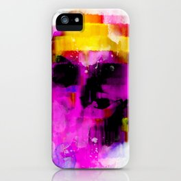 abstrac skull iPhone Case