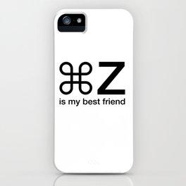 Command Z Funny Graphic Designer Unisex Shirt My Best Friend iPhone Case