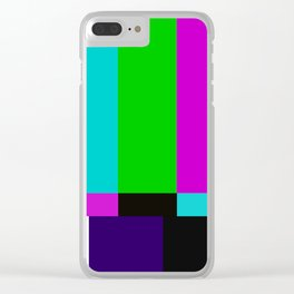TV bars color testTV bars color test Clear iPhone Case