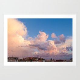 Sky on the bay of Naples Art Print