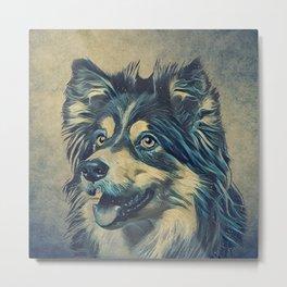 Shetland Sheepdog Painting Metal Print