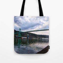 St. Johns Bridge Tote Bag