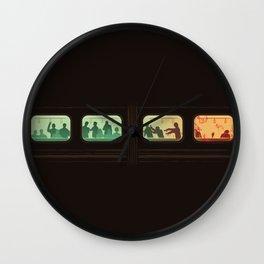 Ground Zero - Zombie Subway Wall Clock