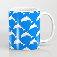 dolphins Mugs featuring Dolphins by The Wellington Boot
