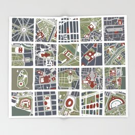 Urban fragments I of NewYork, Paris, London, Berlin, Rome and Seville Throw Blanket