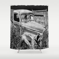 truck Shower Curtains featuring Old Truck by Artist TLynn Brentnall