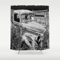 truck Shower Curtains featuring Old Truck by Artist TLynn Brentnall