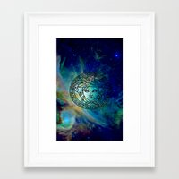 versace Framed Art Prints featuring Versace Nebula  by RickyRicardo787