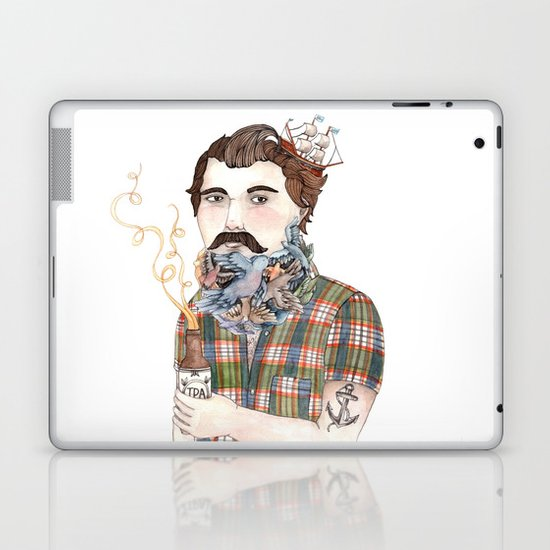 Flock of Beards Laptop & iPad Skin