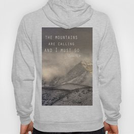 The Mountains are calling, and I must go.  John Muir. Vintage. Hoody