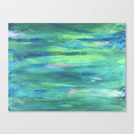 Silver Scrapes Canvas Print