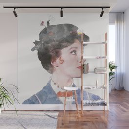 Mary Poppins - Watercolor Wall Mural