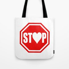 Stop In The Name of Love #1 t-shirt canvas print Tote Bag
