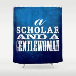 A Scholar and a Gentlewoman Shower Curtain