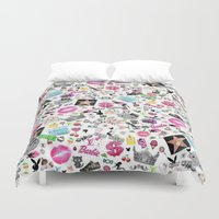 hollywood Duvet Covers featuring Hollywood by LuxuryLivingNYC