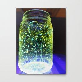 Illuminated Jar Metal Print