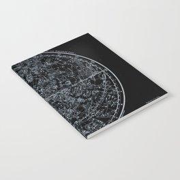 Northern Hemisphere Constellations White Blue Notebook