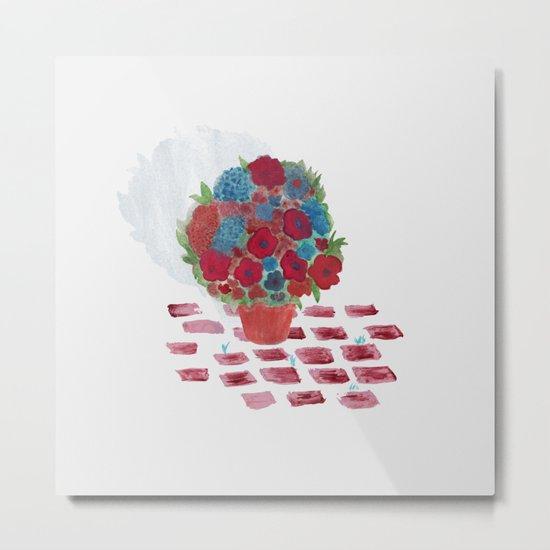 Flowerpot Metal Print