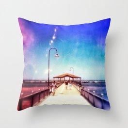 Pier Photo - A Stroll Along the Jetty Art Print Throw Pillow