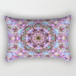 Astrid - Psychedelic Kaleidoscopic Design Rectangular Pillow