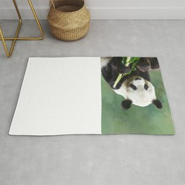 Painting Panda Bear Long Hui Rug
