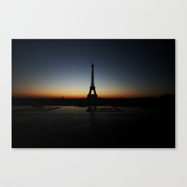 eiffel tower, sunrise Canvas Print