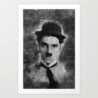chaplin Art Prints featuring Chaplin by Dino cogito