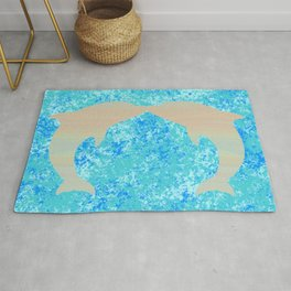 Kissing Dolphins Rug