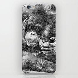 AnimalArtBW_OrangUtan_20170603_by_JAMColors-Special iPhone Skin