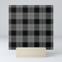 Black & Gray Plaid Print Mini Art Print