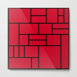 Mondrian Bauhaus Pattern #10 Metal Print