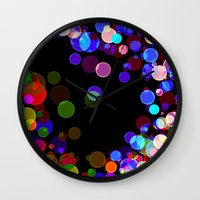 bubbles Wall Clocks featuring Bubbles by haroulita