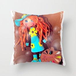 Juliette l'artiste peintre Throw Pillow