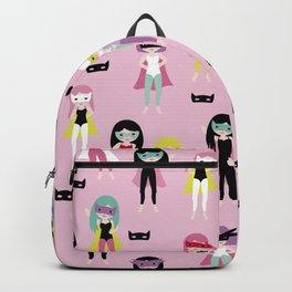 Super hero girls with masks Backpack