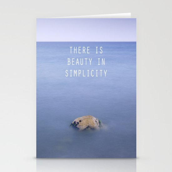 THERE IS BEAUTY IN SIMPLICITY Stationery Cards