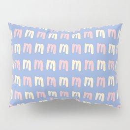 Lowercase Letter M Pattern Pillow Sham
