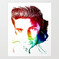 elvis Art Prints featuring Elvis by D77 The DigArtisT