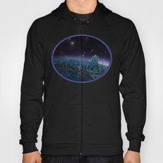 Living On Antaries - cityscape photoshop painting of alien world Hoody