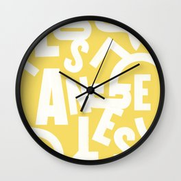 Los Angeles Routes (Sunshine) Wall Clock