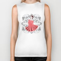 dress Biker Tanks featuring Red Dress by Andrea Forgacs