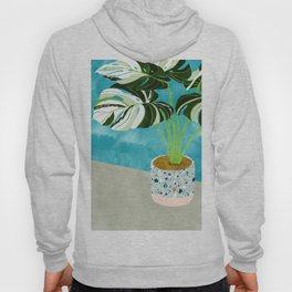 Variegated Monstera #tropical #painting #nature Hoody