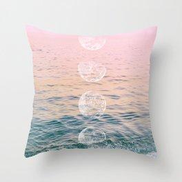 Moontime on the Beach Throw Pillow