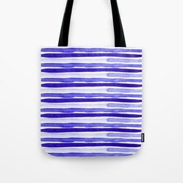 Ultra Violet Watercolour Stripes Tote Bag
