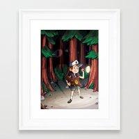 bill cipher Framed Art Prints featuring Cipher by Auraya Frost